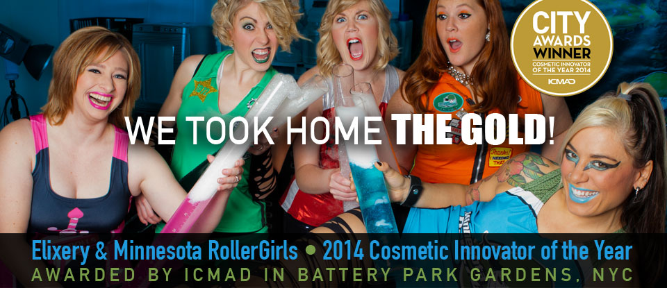 The Elixery and The Minnesota Roller Girls win Cosmetic Innovators of the Year